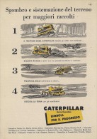 # CATERPILLAR TRACTOR Co.USA 1950s Italy Advert Pub Reklame Peoria Illinois USA Bulldozer - Tracteurs