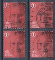 BELGIE JAAR 2015 4 ZEGELS UIT BOEKJE WAARDE1 - Used Stamps