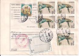 EUROPA 97 £.900X5+50+450, IN TARIFFA PACCO ORDINARIO,1999,POSTE RIZZICONI,S.MARCO ARGENTANO, - 6. 1946-.. Repubblica