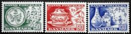 Denmark 1975 Czeslaw Slania. Dänische Porzellan / Danish Porcelain   MiNr.589-591   MNH  (**)  ( Lot L 586 ) - Danemark