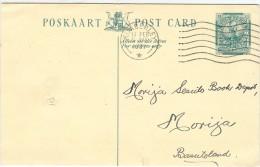 LBL33/B - AFRIQUE DU SUD - EP CP KIMBERLEY / MORIJA 11/2/1937 - Afrique Du Sud (...-1961)