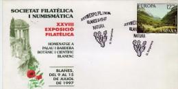 R- 1046   Carta  Expo Blanes 1997 Natura  Homenatge A PALAU I BANDERA , BOTANIC Y CIENTIFIC BLANENC - 1991-00 Storia Postale