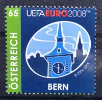 UEFA EURO 2008, Fußball EM, Austragungsort Bern, Zytglogge, Uhrturm, Uhr, AT 2008 ** - Championnat D'Europe (UEFA)