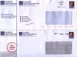 Lot De 12 Pseudo Entiers Société Sain Vincent De Paul - Destineo MD7 Avec Pseudo Timbre - Enteros Postales