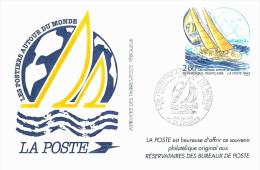 Tema Deportes ( Vela ):Tarjeta Entero Postal De 'La Poste' Obsequio A Usuarios De Apartados De Correos. - Enteros Postales