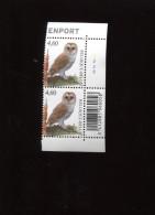 Belgie Buzin Birds 3983 Kerkuil  Plaatnummer 2 In Paar En Paire + BARCODE  Numero De Planche Pltnr  MNH - 1985-.. Pájaros (Buzin)