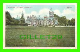 LOWESTOFT, SUFFOLK, UK - SOMERLEYTON HALL -  TRAVEL IN 1904 -