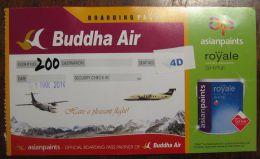 AIR PASSENGER TICKET BUDDHA AIR -Circling around the Himalayas - NEPAL