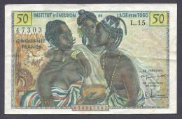 Institution D'Emission De L'A O F Et Du TOGO 50 Francs 1956 - Togo