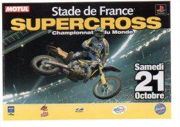 REF 231 CPM Cart'com Stade De France Supercross - Publicidad
