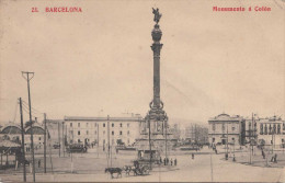 BARCELONA - Monuments à Colòn, Gel.1915 - Barcelona