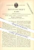 Original Patent - Johann Samuel Lorenz , Schaffhausen  , 1880 , Flüssigkeitsmesser , Flüssigkeiten , Messen , Maßeinheit - Documents Historiques