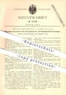 Original Patent - A. Munzinger In Olten , 1880 , Spinnmaschine Für Streichgarn , Spinnen , Spinnerei , Garn , Spinnrad ! - Historische Dokumente