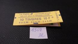 Carnet  N° 1502  Neuf  **, à 20% De La Cote, Etat TB - Carnets