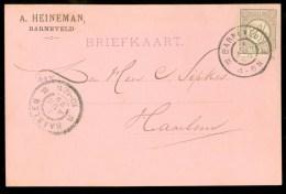 HANDGESCHREVEN BRIEFKAART Uit 1899 NVPH 33 Van BARNEVELD Naar HAARLEM ( 9832b) - 1891-1948 (Wilhelmine)