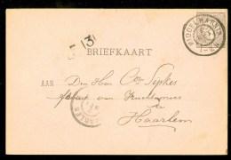 HANDGESCHREVEN BRIEFKAART Uit 1899 NVPH 33 Van MIDDELHARNIS Naar HAARLEM ( 9832f) - Periode 1891-1948 (Wilhelmina)