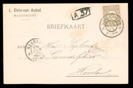 HANDGESCHREVEN BRIEFKAART Uit 1899 NVPH 33 Van MAASTRICHT Naar HAARLEM ( 9832G) - Periode 1891-1948 (Wilhelmina)