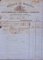 E1148 CUBA ESPAÑA SPAIN ILLUSTRATED INVOICE MUDANZAS 1859 - Historical Documents
