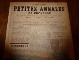 1894 Petites Annales De Provence ( CABASSE , Le Château De Tarascon , Le Vieillissement Des Vins Par La Lumière Etc - Journaux - Quotidiens