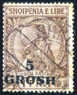 ALBANIA 1914 - 5 Gr. Used Key Value - Albanien