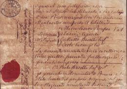 E1223 ITALY CERDEÑA SARDEGNA SEALLED PAPER 1837 C.60 REVENUE - Italy