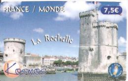 CARTE*-PREPAYEE-KOSMOS-7.5€ -TOURS DU PORT DE LA ROCHELLE-2000ex-04/06-Exp31/01/2009-T BE- - France