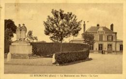 27 LE NEUBOURG  Le Monument Aux Morts La Gare 1914.1918 - Le Neubourg