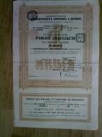 Vieux Papier , Genre Action Porteur  :  Russie ? , Société Des Ateliers De NICOLAIEFF , Moscou? - Actions & Titres