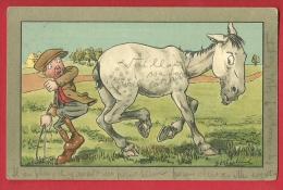 EZF1-02 Les Aventures D'un Jockey Et Son Cheval. Circulé En 1915 - Humour
