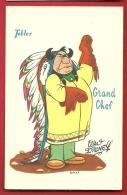 EZF1-19  Grand Chef Sioux De Walt Disney. Dessin Publicité Des Chocolats Tobler. Non Circulé - Indiens De L'Amerique Du Nord