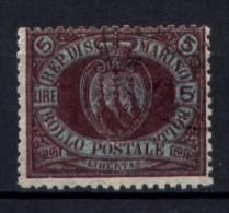 San Marino 1892 5£ Sass.22 Usato /Used VF/F - Firmato Raybaudi - Saint-Marin
