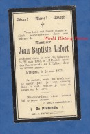 Faire-Part De Décés - L'HOPITAL ( Moselle ) - Monsieur Jean Baptiste LEFORT Décédé En 1933 - Imp Winter Merlebach - Décès