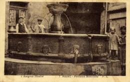 12 NAJAC L´Aveyron Illustré Fontaine Monolithe Animée - Najac