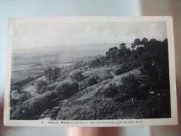Carte Postale Sainte-Marie (35)  Vue Sur Les Marais ,prise Du Tertre Brulé Oblitérée 3 Timbres 10 Centimes - France