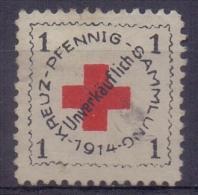 DEUTSCHLAND:1914: Vignette/Cinderella: ROTES KREUZ,RED CROSS, BIENFAISANCE,CHARITY,HEALTH, - Erinnofilia