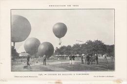 Course De Ballons à VINCENNES 1900 - Non Classés