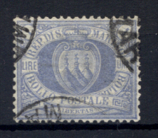 San Marino 1894 1£ Sass.31 Usato /Used VF/F - Saint-Marin