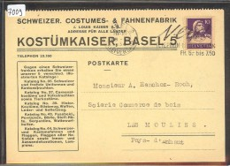 GRÖSSE 10x15 - BASEL - SCHWEIZ. COSTUMES & FAHNENFABRIK - TB - BS Bâle-Ville
