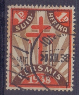 SUID-AFRIKA:1938: Vignette/Cinderella- Travelled : CHRISTMAS,NOËL, BIENFAISANCE,CHARITY,HEALTH,T.B.C.,CANDLES, - Unclassified