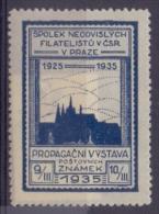 CESKOSLOVENSKO :1935: Vignette/Cinderella – Mint  With Hinge :  ## Philatelic Exhibition – PRAHA ##: ARCHITECTURE, - Cinderellas