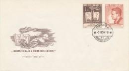 Czechoslovakia / First Day Cover (1953/05) Praha 1 (9k): Bedrich Vaclavek (1897-1943) Czech Writer; Rip Mountains - Berufe