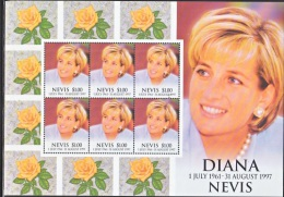 NEVIS  1096  **   PRINCESS DIANA  MEMORIAL ISSUE   FLOWERS - St.Kitts And Nevis ( 1983-...)