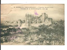 03 BOURBON-L´ARCHAMBAULT N° 24 : Vestiges De La Sainte-Chapelle Coté Est / CPA Voy. 1929/ FLAMME /T. Décollé Petit Prix - Bourbon L'Archambault