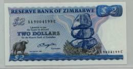 O.ZIMBABWE : 2 $  1980 (unc) - Zimbabwe