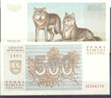 1993. Kithuania, 500 Talons, P-46, UNC - Lituania