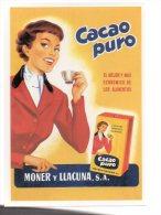 REF 231 CPM Reproduction Affiche Ancienne Espagne Spain CACAO Puro Moner Y Llacuna Banania No - Publicidad