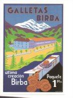 REF 231 CPM Reproduction Affiche Ancienne Espagne Spain Galletas Birba - Publicidad