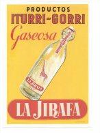 REF 231 CPM Reproduction Affiche Ancienne Espagne Spain Limonade La Jirafa Girafe Bilbao - Publicidad