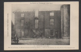 DF / 51 MARNE / ÉPERNAY / GUERRE 1914-18 / RUE DE LA POTERNE LES RUINES FUMANTES DU MOULIN DELAIRE APRÈS LE BOMBARDEMENT - War 1914-18