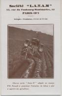 """Tracteur L.A.T.A.M.  55 Rue Faubourg Montmartre Paris 9 Eme  Charrue """" Janus B """" Tracteur Renault Labour - Tracteurs"""